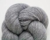 Lace Weight Recycled Cashmere Yarn, Smoke Gray Cashmere Lace Weight Recycled Yarn, 1629 Yards Available