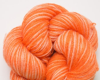 Tangerine & Peach Cashmere Fingering Weight Recycled Yarn, CSH00193