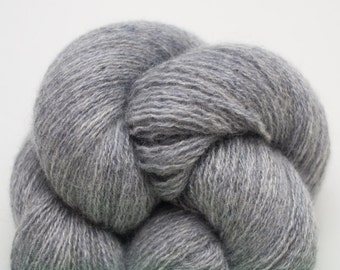 Smoke Gray Cashmere Lace Weight Recycled Yarn, 1629 Yards Available