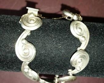 Los Castillo Sterling Swirls Design Bracelet