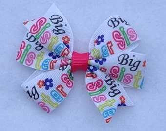 Big Sister Hair Bow~Big Sis Boutique Hair Bow~Small Pinwheel Hair Bow~Sister Hair Bows~Basic Boutique Bows~Simple Hair Bows~Big Sis Bows