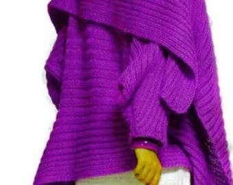 Asymmetric Jacket Wrap Knitting Pattern Tutorial Unbalanced Design PDF Pattern Is not a finished product. It is a PDF Pattern