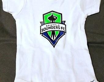 Seattle Sounders FC Baby Onesie - Handmade