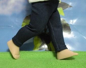 "Fits 10"" Patsy Tonner-Effanbee Doll .... Stretch Denim Leggings ... D305"