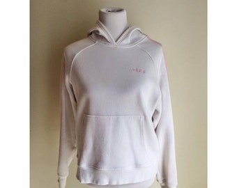 White and Pink Adidas Hoodie