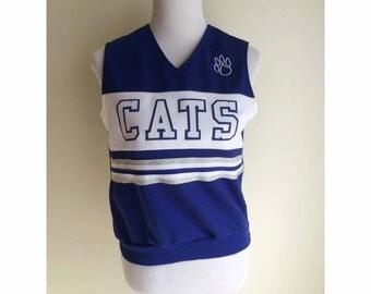 Blue Cats Cheerleading Tank