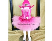 Pageant Pink Western OOC Country Pink cowgirl Texas Sassy - custom order for Tequina Beines