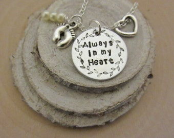 Memorial Necklace, Infant Loss Necklace, Pregnancy Loss Jewelry, Remembrance Jewelry, Miscarriage Necklace, Memorial Keepsake, Sympathy Gift