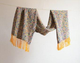 Vintage Floral Print Liberty of London Oblong Silk Scarf