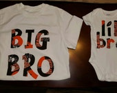 Cleveland Browns onesie and T shirt Set for siblings