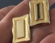 Gold Rectangular Cuff Links Tie Tack. Anson Cuff links . Mens Cuff Links. Formal Wear. Wedding . No.002090