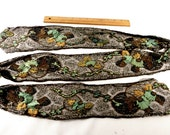 Embroidered 1920s Sash Mesh Multi Colors Beautiful Design One of a Kind Handmade