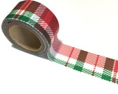 RED & GREEN Plaid WIDE Washi Tape Roll Holiday winter craft planner crafts planners cards card winter pattern envelopes envelope masking