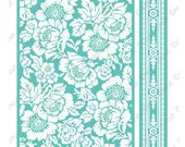 """Anna Griffin Embossing Folders 2 pc Set POPPY Botanical 5"""" x 7"""" & Border Folder NEW in Package Cuttlebug cricut provo craft Mixed Lot sizzix"""