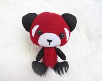 Mini Red Panda Bear Felt Plushie