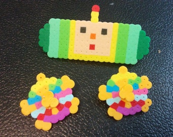 Katamari Damacy Fanart Barette and Pin Set