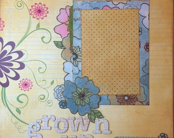Grown Up - 12x12 Premade 1 Page Layout