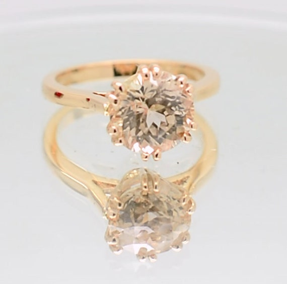 A setting Semi mount gold ring here in rose gold engagement