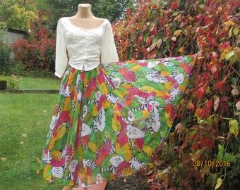 Circle Skirt / Long Circle Skirt / Summer Skirt / Skirt Maxi / Long Full Skirt / Full Skirt Maxi / Size EUR 40 / 42 X UK12 / 14
