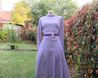2 PC Skirt Suit / Skirt Suit Vintage / Violet Lilac Skirt Suit / EUR44 / UK16 / Skirt and Blouse