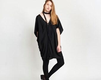 Final Summer Sale Lotus Dress, Black.