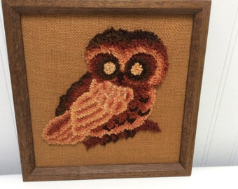 Owl Yarn Wall Hanging