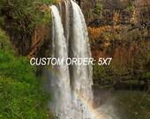 Wailua Falls 5x7 Print Custom Order
