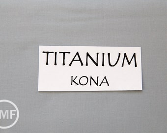 One Yard Titanium Kona Cotton Solid Fabric from Robert Kaufman, K001-500