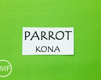 One Yard Parrot Kona Cotton Solid Fabric from Robert Kaufman, K001-498