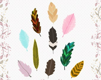 feather cliparts, cute retro feather clipart, bird feathers images, sweet  colorful feather digital images, feather clipart
