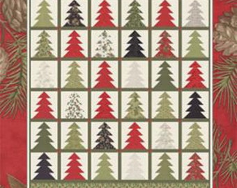 Tree Farm Quilt Pattern, CHD-1549, by Coach House Designs, Christmas Trees, Jelly Roll Friendly