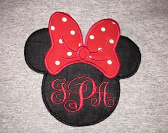 Miss Mouse Ears and Bow Embroiderd Shirt perfect for a Disney trip