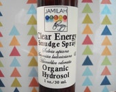 Clear Energy Smudge Spray - Move Negative Energy Out - Smokeless Water, Rebalance Energy, Space Clearing & Cleansing, Sweetgrass, Sage, 1oz.