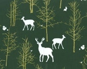 Fabric by the Yard- Timber Valley in Green-Christmas at Brambleberry Ridge by Violet Craft for Micheal Miller