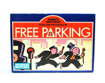 Free Parking Card Game by Parker Brothers Complete 1988