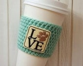 Coffee Cozy - Crochet Coffee Cozy  - Coffee Cup Sleeve - Beer Sleeve - Coffee Gift Ideas - Coffee Sleeve - Gift Idea for Her - Animal Lover