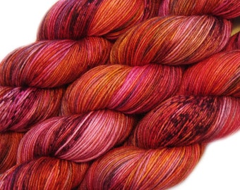 hand dyed yarn QUEEN of the ELVES pick your base - sw merino bfl silk nylon stellina fingering dk