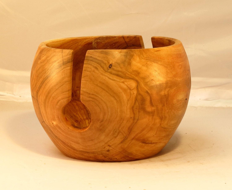 Knitting Bowls Wood : Large cherry wood yarn bowl krischeholz garnschale