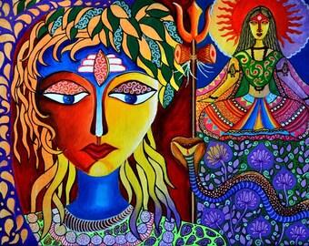 "Ltd Edition Prints of Original Artwork ""Shiva-Sati"""