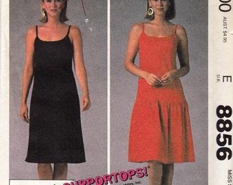 "Flirty Top Gun Summer Halter Dress  -  1980's Vintage Women's Pattern  - Size 10-12 Bust 32.5-34"" - UNCUT - Sewing Pattern McCall's 8856"