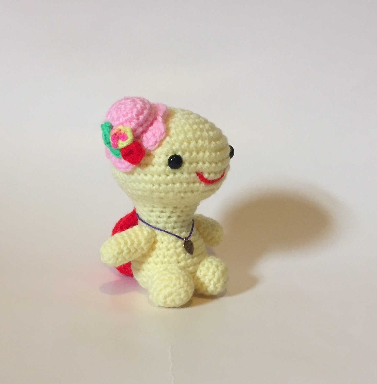 Crocheted Turtle Little Miss Turtle Amigurumi Ready to