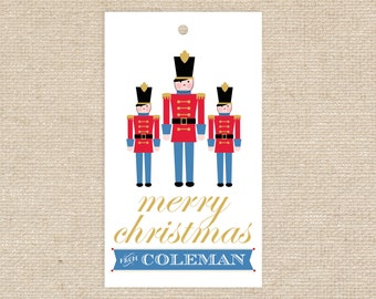 25 Personalized Toy Soldier Gift Tags