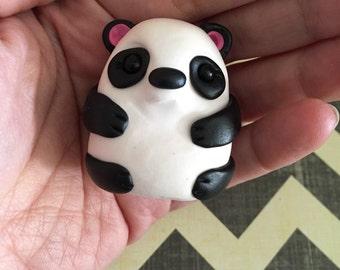 Miniature Panda Bear Totem - Polymer Clay Sculpture - Totem Animal - Spirit Animal - Art by Sarah Price