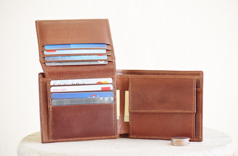 Minimalist wallet men Mens leather wallet Mens wallet