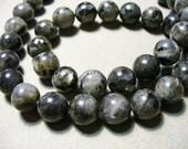 Labradorite Beads Gemstone Black Round 10mm