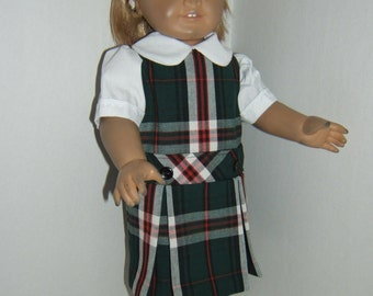 18 inch doll School Jumper plaid 3b or Sequoia plaid