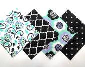 "48 Piece Flannel Rag Quilt Kit 6""x6"" Pre Cut Quilt Squares in Flowers, Dots, and Trellis Prints"
