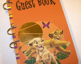 Guest Book, Lion King Birthday, Party Sign in Book, Lion King Baby Shower, Lion King Party, First Birthday, Simba, Nala