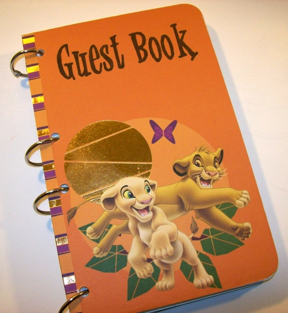 Guest Book Lion King Birthday Party Sign In Book Lion King