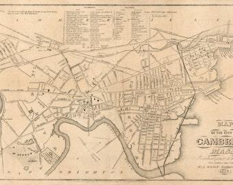 Vintage Map - Cambridge, Massachusetts 1857